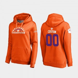 2018 National Champions For Women's College Football Playoff Pylon Orange Clemson Tigers Customized Hoodie #00
