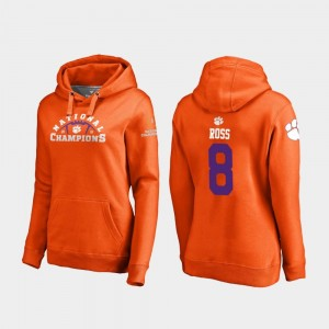 #8 Justyn Ross CFP Champs Hoodie Orange College Football Playoff Pylon For Women 2018 National Champions