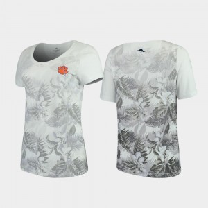 Floral Victory Women White Tommy Bahama Clemson T-Shirt