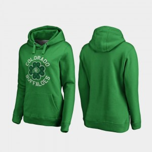 St. Patrick's Day Colorado Buffaloes Hoodie Kelly Green Luck Tradition Fanatics Branded Ladies