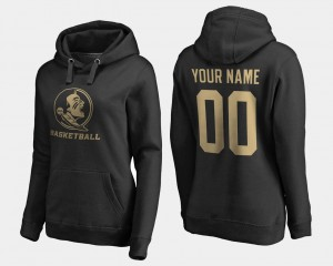 #00 Name and Number Black Florida State Customized Hoodie Basketball For Women's