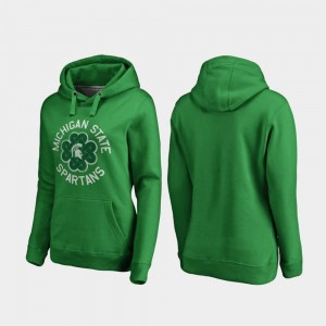 MSU Hoodie Luck Tradition Fanatics Branded St. Patrick's Day For Women's Kelly Green