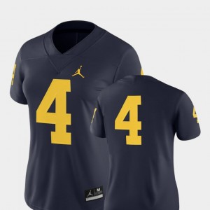 College Football #4 2018 Game Nike For Women's Navy University of Michigan Jersey