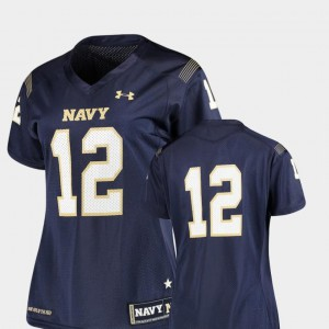 #12 Navy Midshipmen Jersey College Football Finished Replica Under Armour Women
