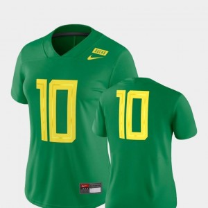 2018 Mighty Oregon Green UO Jersey Football Game Nike For Women's #10