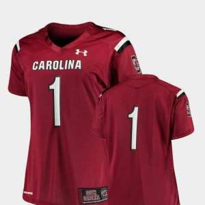#1 College Football For Women's Finished Replica Under Armour Garnet South Carolina Jersey