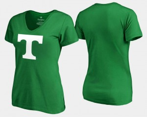 St. Patrick's Day White Logo Fanatics Branded Kelly Green For Women Tennessee Vols T-Shirt