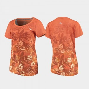 For Women's Floral Victory Texas Longhorns T-Shirt Texas Orange Tommy Bahama