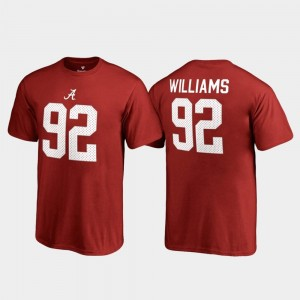Fanatics Branded Name & Number Quinnen Williams University of Alabama T-Shirt College Legends Crimson #92 Youth(Kids)