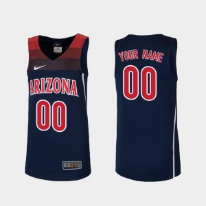 Wildcats Customized Jersey Replica Navy Youth(Kids) College Basketball #00