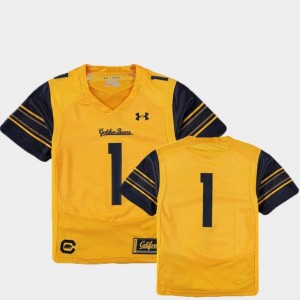 Youth Gold Finished Replica Under Armour College Football #1 Cal Jersey