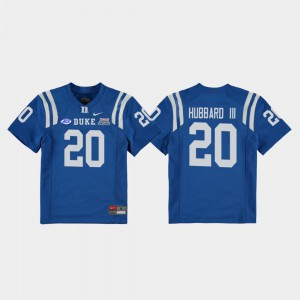 Marvin Hubbard III Duke University Jersey #20 College Football Game Royal Youth 2018 Independence Bowl