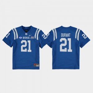 Mataeo Durant Duke Jersey 2018 Independence Bowl Royal #21 College Football Game Kids