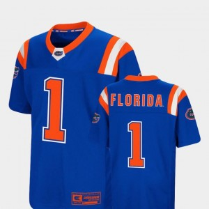 For Kids #1 Royal Colosseum Authentic Foos-Ball Football Florida Jersey