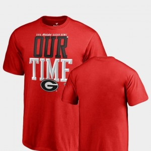 Counter Fanatics Branded 2019 Sugar Bowl Bound Youth University of Georgia T-Shirt Red