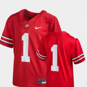Scarlet Ohio State Jersey College Football For Kids Team Replica Nike #1