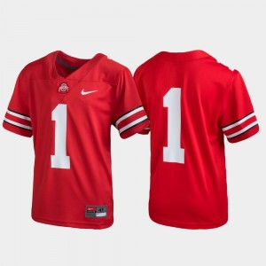 Untouchable #1 Scarlet Youth OSU Jersey Football