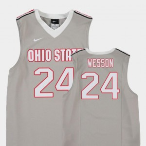#24 College Basketball Replica Youth(Kids) Andre Wesson OSU Buckeyes Jersey Gray