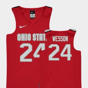 Replica #24 Andre Wesson Ohio State Buckeyes Jersey Red College Basketball For Kids