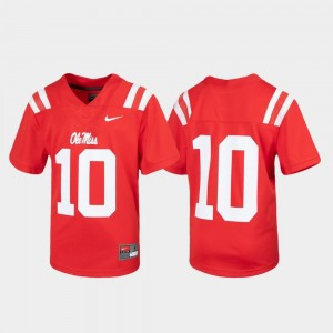 Ole Miss Jersey Red #10 Untouchable Football Youth(Kids)