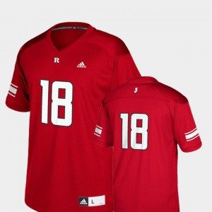 Scarlet #18 Rutgers Scarlet Knights Jersey Youth College Football Replica Adidas