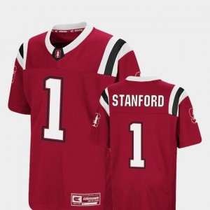 #1 Cardinal Youth Foos-Ball Football Stanford Cardinal Jersey Colosseum Authentic