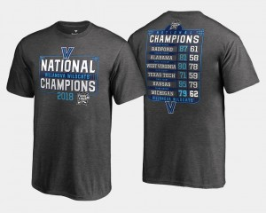 Heather Gray Basketball National Champions Wildcats T-Shirt Youth(Kids) 2018 Dropstep Schedule