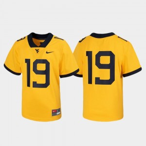 For Kids #19 West Virginia Jersey Untouchable Football Gold