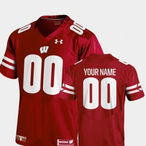 College Football #00 Youth(Kids) Red 2018 Replica Under Armour Wisconsin Customized Jerseys